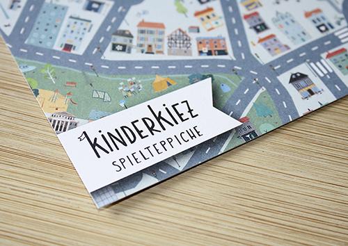 Werbepostkarten für Kinderkiez Spielteppiche, 2018