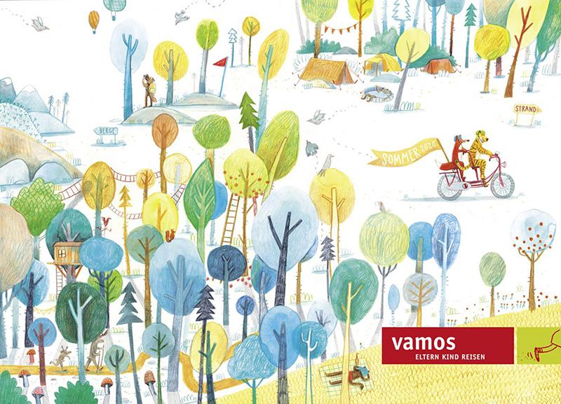 Katalogcover, vamos Reisen, 2019