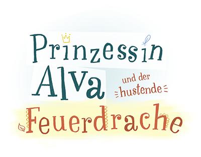 "Handgeletterte Covertypo zu ""Prinzessin Alva"", Oetinger"