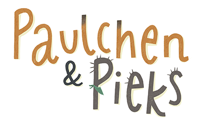 """Schriftentwurf zum Reihentitel """"Paulchen und Pieks"""", Esslinger"""