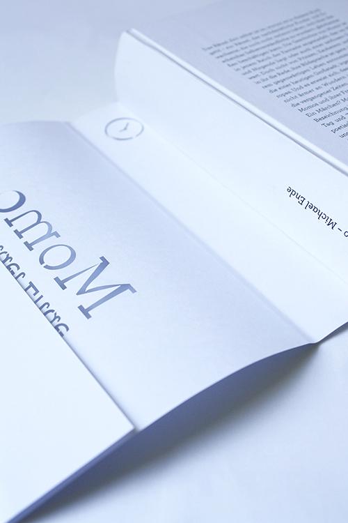 """Buchgestaltung """"Momo"""" von Michael Ende, studentische Arbeit"""